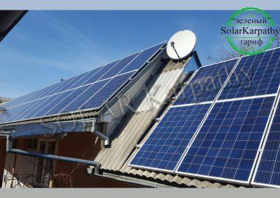"""СЕС потужністю 10 кВт (42 панелі), """"Зелений"""" тариф, м. Виноградів"""