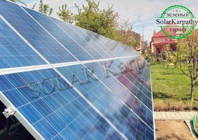 """Мережева сонячна електростанція, потужність – 13 кВт, """"Зелений"""" тариф, м. Мукачево"""