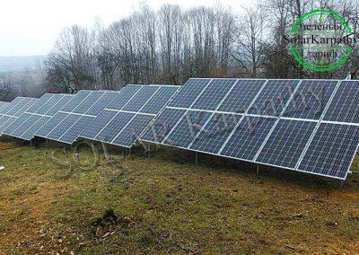 """Наземна сонячна електростанція потужністю 30 кВт під """"Зелений"""" тариф, с. Золотарьово, Хустський р-н"""