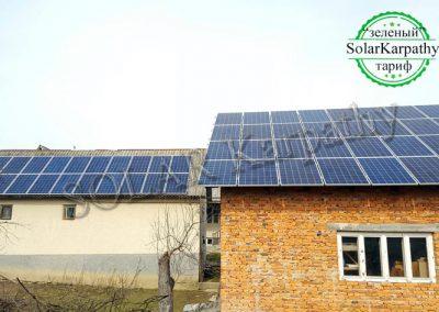 """Мережева сонячна електростанція потужністю 30 кВт, """"Зелений"""" тариф, с. Н. Селище, Хустський р-н"""