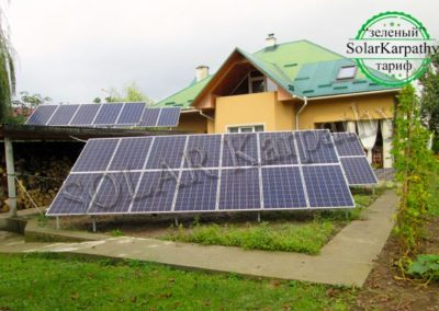 "Наземна сонячна електростанція потужністю 10 кВт (38 панелей), ""Зелений"" тариф, м. Свалява"