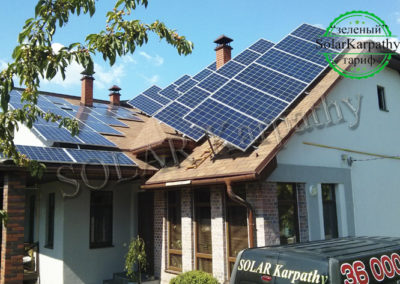 """СЭС мощностью 10 кВт (40 панелей), """"Зеленый"""" тариф, г. Ужгород"""