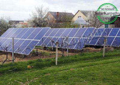 """Наземна сонячна електростанція потужністю 10 кВт, """"Зелений"""" тариф, с. Холмок, Ужгородський р-н"""