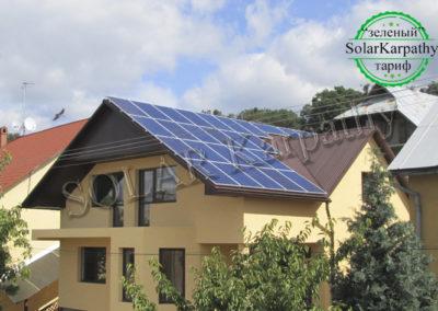 """Сетевая солнечная электростанция мощностью 10 кВт (42 панели), """"Зеленый"""" тариф, г. Ужгород"""