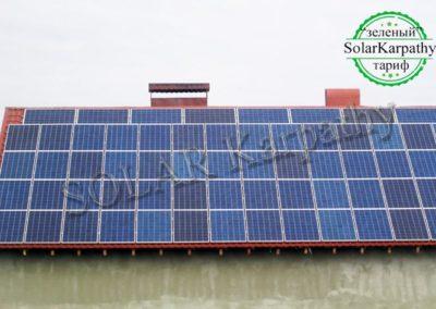 """Сонячна електростанція, потужність – 16 кВт (64 панелі), """"Зелений"""" тариф, с. Руське Поле, Тячівський р-н"""