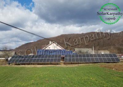 """Наземна СЕС потужністю 20 кВт (58 панелей), """"Зелений"""" тариф, с. Раково, Перечинський р-н"""