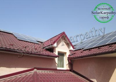 """Мережева сонячна електростанція потужністю 25 кВт (83 панелі), """"Зелений"""" тариф, м. Хуст"""