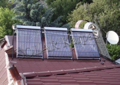 Система гарячого водопостачання та опалення (3 сонячних колектора), м. Ужгород