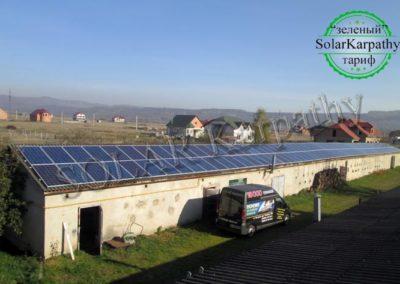 """Мережева сонячна електростанція потужністю 30 кВт, """"Зелений"""" тариф, с. Руське Поле, Тячівський р-н"""