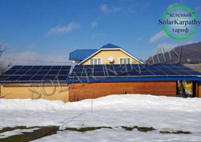 """Мережева сонячна електростанція потужністю 30 кВт (103 панелі), """"Зелений"""" тариф, с. Терново, Тячівський р-н"""