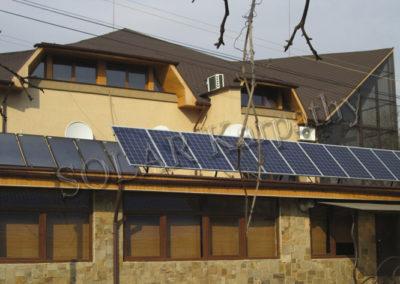 СЕС потужністю 5,5 кВт (22 панелі), 8 сонячних колекторів, Maximus, м. Ужгород