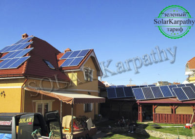 """СЕС, потужність – 8,5 кВт (34 панелі), """"Зелений"""" тариф, м. Ужгород"""