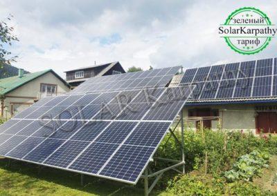 """Мережева сонячна електростанція, потужність – 30 кВт (84 панелі), """"Зелений"""" тариф, смт. Міжгір'я, Міжгірський р-н"""