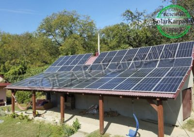 Мережева СЕС потужністю 30 кВт (84 панелі), «Зелений» тариф, с. Вишоватий, Тячівський р-н