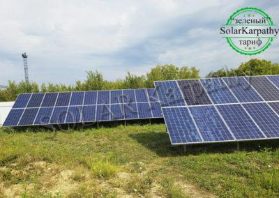 Наземна мережева СЕС потужністю 30 кВт (94 панелі), «Зелений» тариф, с. Розівка, Ужгородський р-н