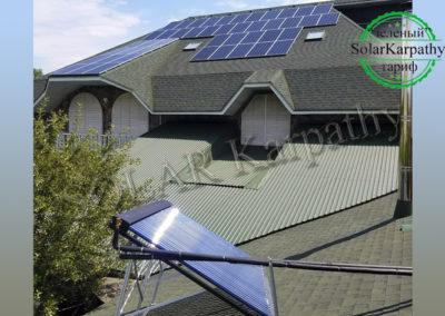 """Мережева сонячна електростанція потужністю 30 кВт (84 панелі), """"Зелений"""" тариф, геліосистема, м. Мукачево"""