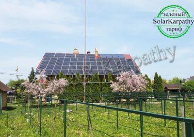 """Мережева сонячна електростанція потужністю 30 кВт (96 панелей) під """"Зелений"""" тариф, с. Минай, Ужгородський р-н"""