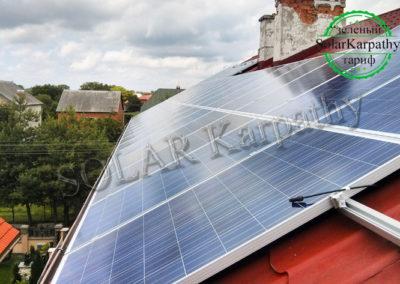 """СЕС потужністю 10 кВт (40 панелей), система опалення і ГВП, """"Зелений"""" тариф, с. Сторожниця, Ужгородський р-н"""