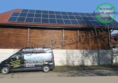 """СЕС потужністю 10 кВт (44 панелі), система для підтримки опалення та нагріву води, """"Зелений"""" тариф, м. Берегово"""