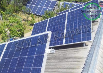 Мережева сонячна електростанція потужністю 10 кВт (46 панелей), «Зелений» тариф, м. Ужгород