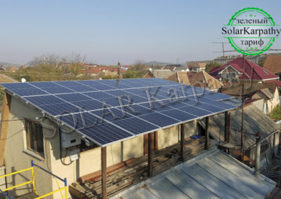 Мережева сонячна електростанція – 15 кВт (26 панелей), «Зелений» тариф, м. Мукачево