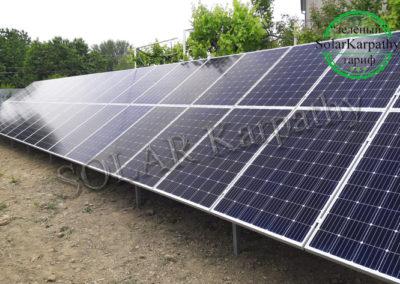 """Наземна мережева сонячна електростанція потужністю 15 кВт (54 панелі), """"Зелений"""" тариф, с. Сторожниця, Ужгородський р-н"""