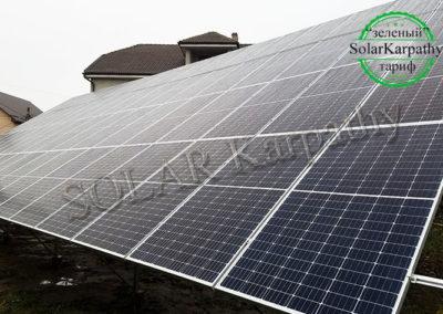 Наземна мережева СЕС: 30 кВт*год, 80 панелей, «Зелений» тариф, м. Ужгород