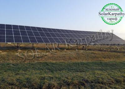 Наземна мережева СЕС потужністю 30 кВт (84 панелі), «Зелений» тариф, с. Золотарьово, Хустський р-н