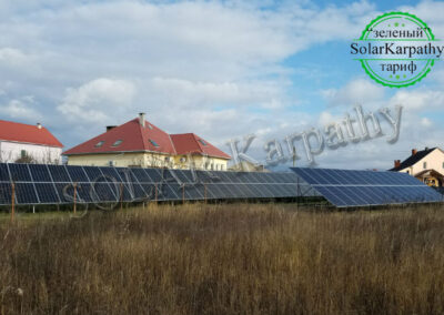 Наземна СЕС потужністю 50 кВт (140 панелей), с. Баранинці, Ужгородський р-н