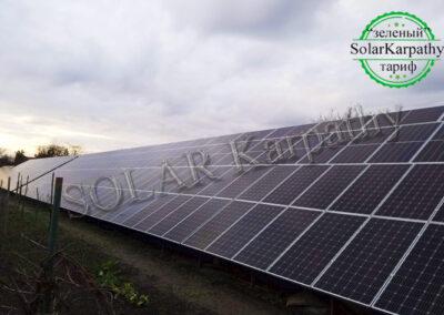 Наземна мережева сонячна електростанція, потужність – 50 кВт, м. Берегово