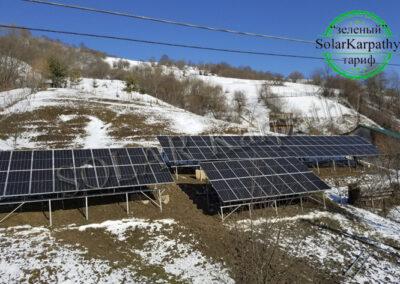 """Мережева сонячна електростанція 30 кВт (80 панелей), """"Зелений"""" тариф, с. Лозянський, Міжгірський р-н"""