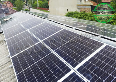 Мережева СЕС потужністю 30 кВт (112 панелей), «Зелений» тариф, м. Берегово