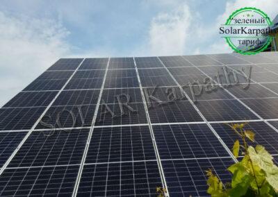 """Сетевая солнечная электростанция мощностью 25 кВт (64 панели) под """"Зеленый"""" тариф, г. Ужгород"""