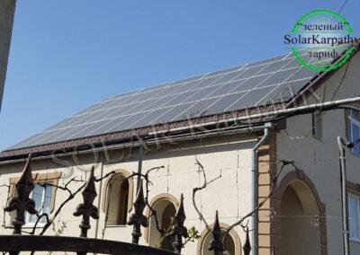 """Сетевая солнечная электростанция мощностью 30 кВт, """"Зеленый"""" тариф, с. Корытняны, Ужгородский р-н"""