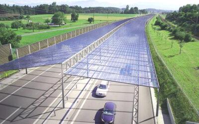 Автомагистраль будущего: солнечные электростанции над автобанами