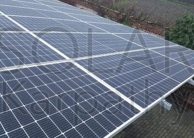 Сетевая солнечная электростанция на 30 кВт (66 фотомодулей) под «Зеленый» тариф, с. Вышково, Хустский р-н